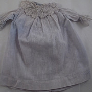 Faded Blue Lace Trimmed Dress For Doll