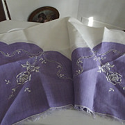Purple Card Table Cover