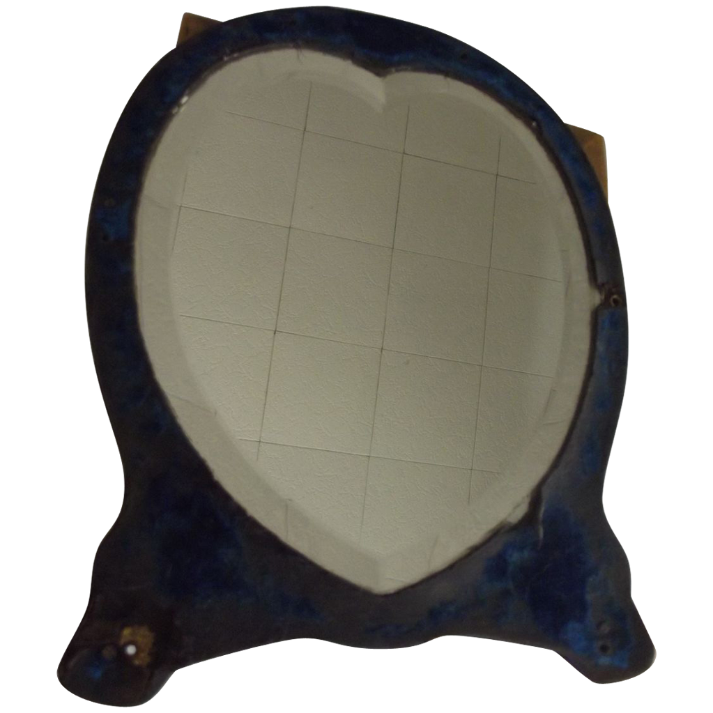 Large Beveled  Heart- Shaped Table Mirror