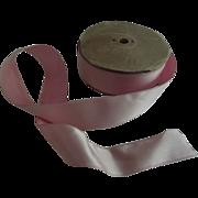 Spool of Old Pink Satin Ribbon