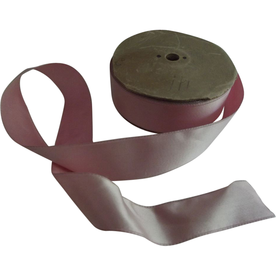 Spool of Old Pink Satin Ribbon
