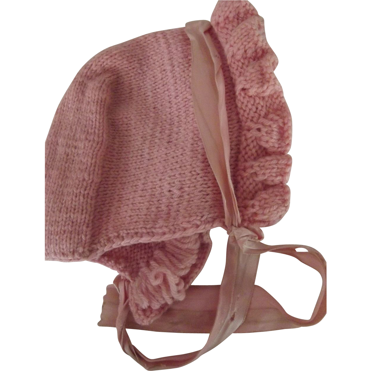 Pink Knit Bonnet