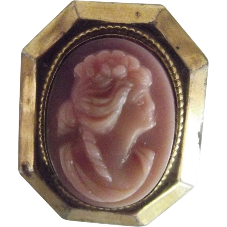 Pink Glass Cameo