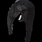 Victorian Black Lace Remant