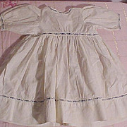 Pretty Cotton Dress For A Bisque Doll