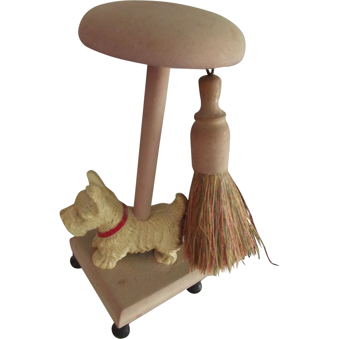 Hat Stand With Scotty Dog and Brush