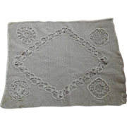 Early Net and Lace Pillow Cover
