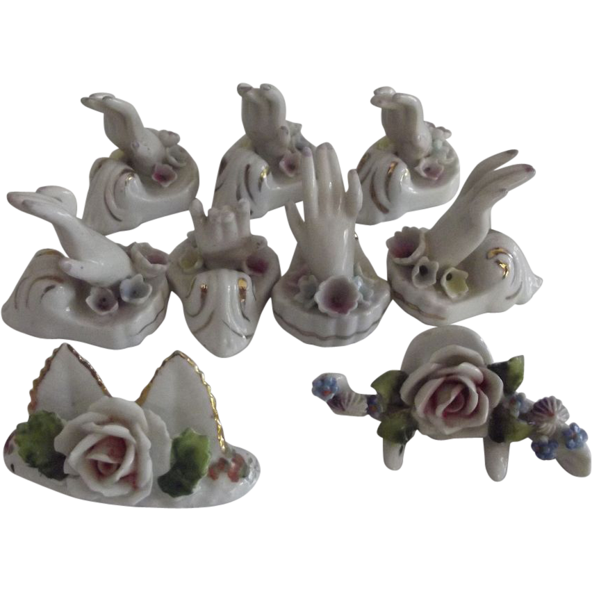 Set of  Porcelain Place Markers