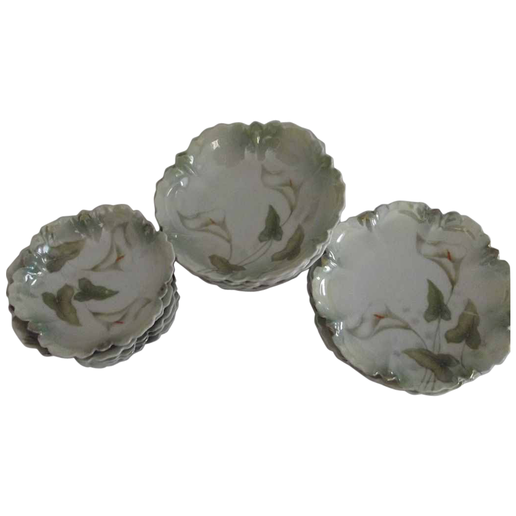 Set of Calla Lily Plates and bowls