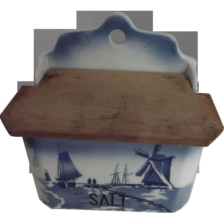 Delft Salt Box Made in Czechslovakia