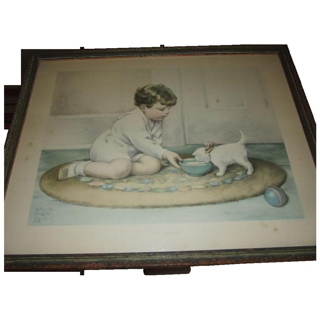 "Bessie Pease Gutmann's ""Kitty's Breakfast"""