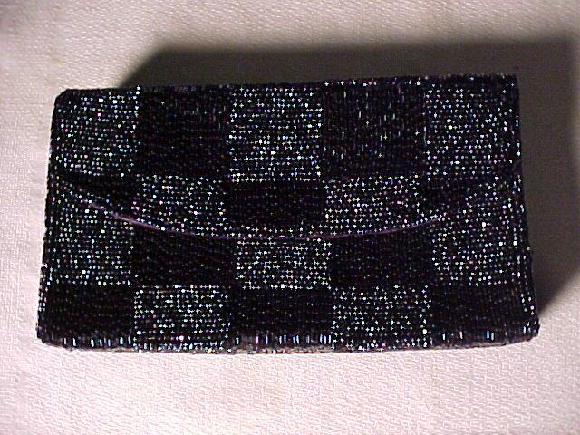 Vintage Iridescent  Beaded Bag