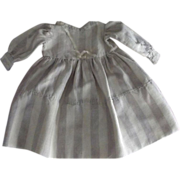 Striped Flannel Doll Dress