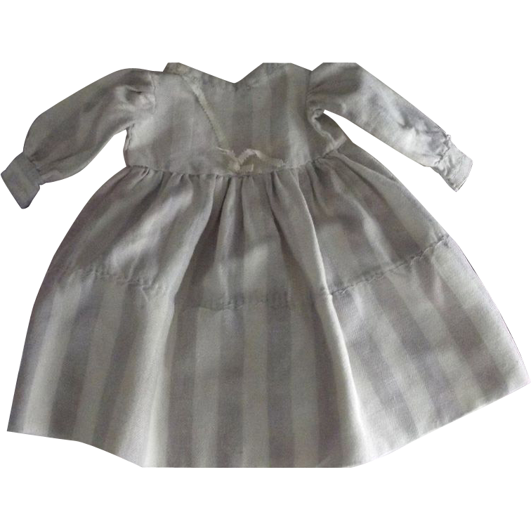 Striped Flannel Doll Dress
