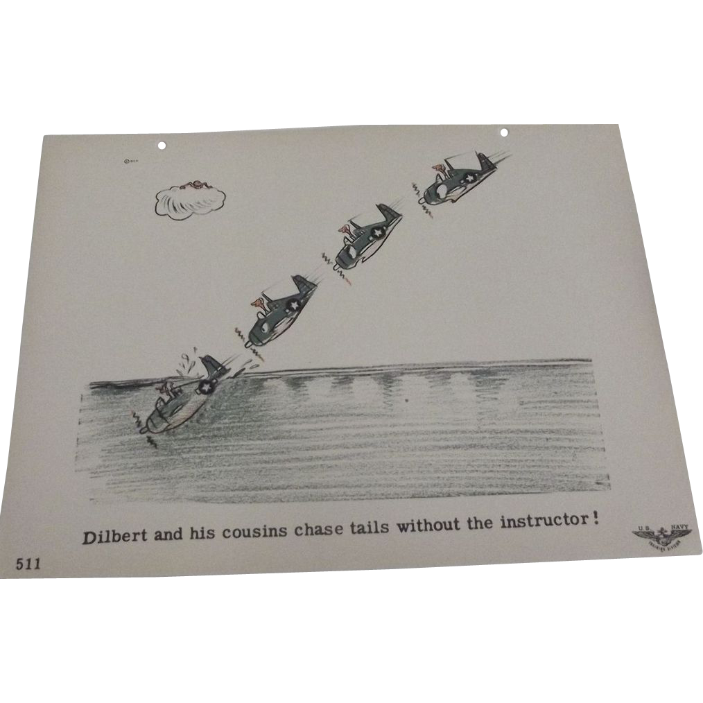 Navy Training Poster of Dilbert