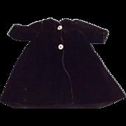 Early Deep Purple Velvet Doll Coat