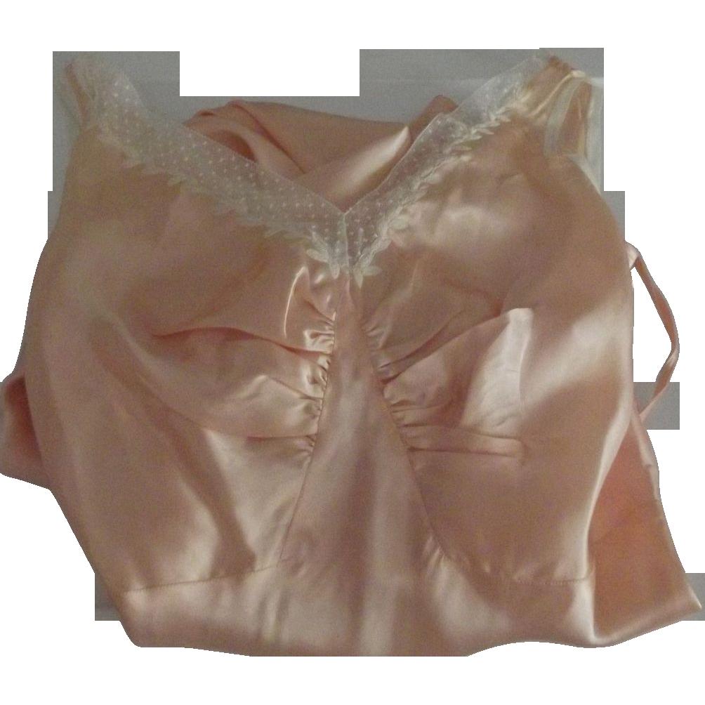 Nightgown, Bias Cut, Long, Pink