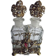 Early Ormolu Perfumes In Fancy Holder