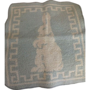 Baby Flannel Washcloth With Rabbit