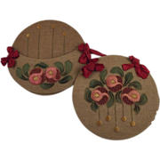 Pair of Embroidered Holders
