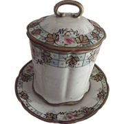 Victorian  Nippon Can or Jar Covered Container