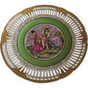 Occupied Japan Plate With Cherub