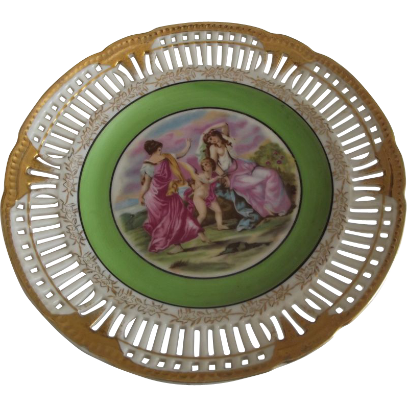 Occupied Japan Plate With Cherub
