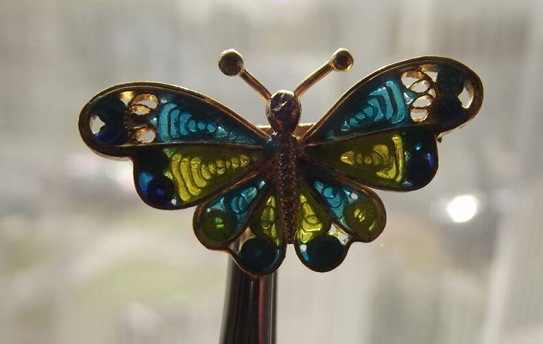 Tiny Plique A Jour Butterfly