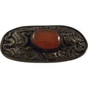 """China"" Pin With Orange Stone"
