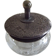 Sterling Silver Powder Jar With Brush