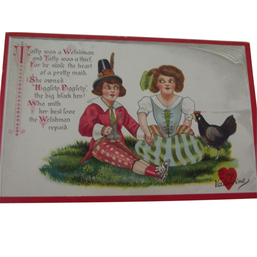 Valentine Post Card  by Tuck