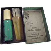 Tiny Kit For Polishing Suede Bakelite Brush