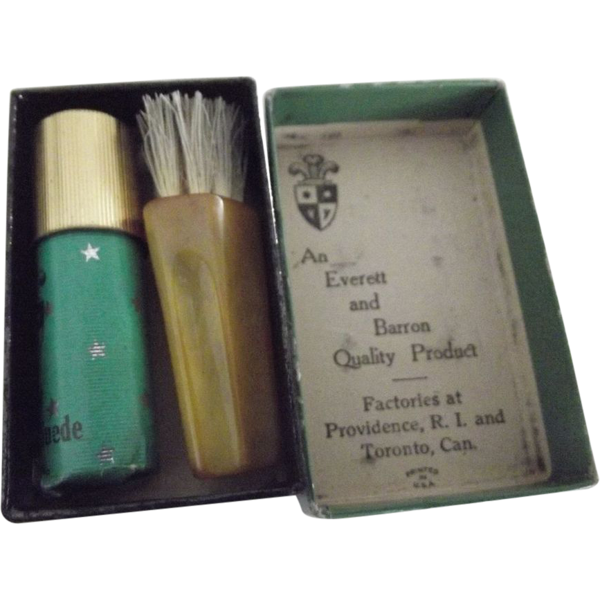 Tiny Kit For Polishing Suede Bakelite Brush