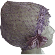 Lavender Flapper Sleep Cap