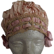 Pink Flapper Sleep Cap