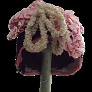 Velvet Doll Bonnet