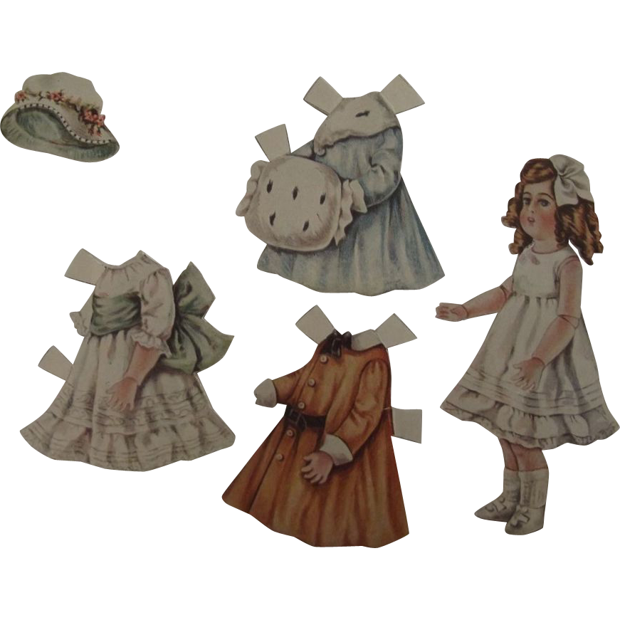 Paper Doll of a German Bisque Doll
