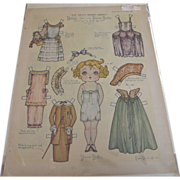 Paper Doll Betty Bobbs - Red Tag Sale Item