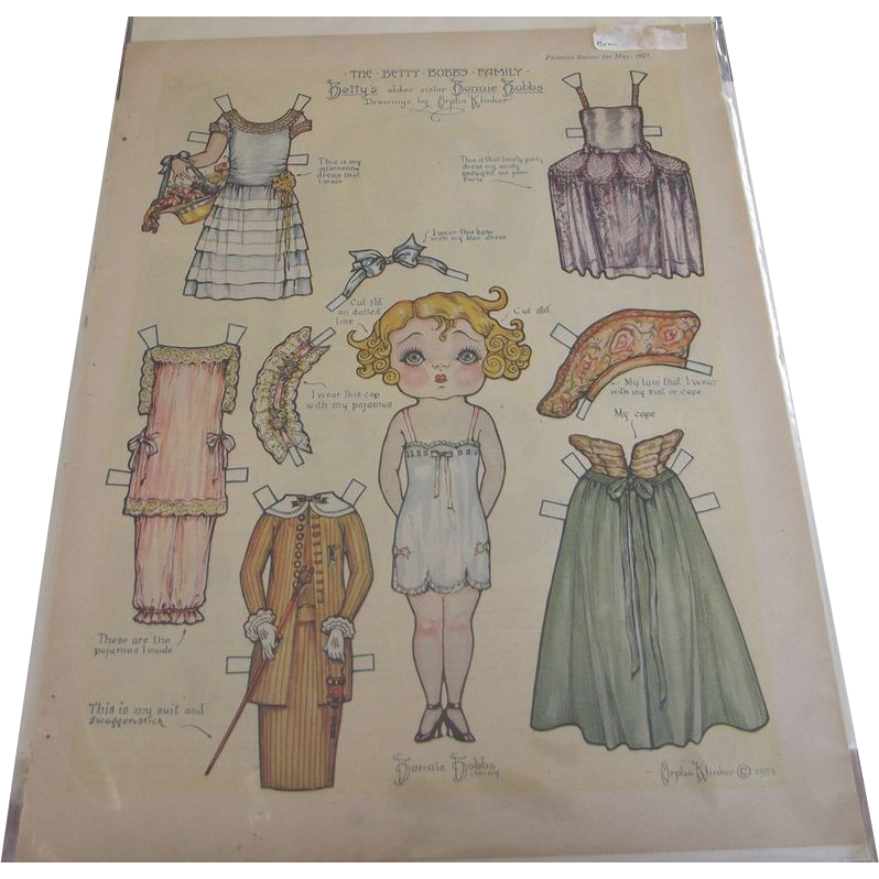 Paper Doll Betty Bobbs