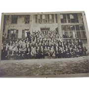 Large Picture Men In Front of House - Red Tag Sale Item