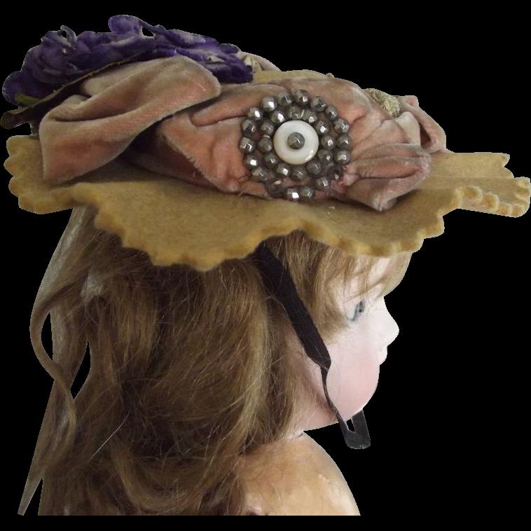 Felt Hat With Violets