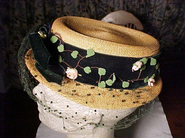 "Early  ""Chanda"" Straw Hat"