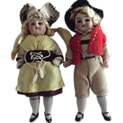 Pair of All Bisque Dolls