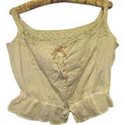 Camisole  With Lace and Ribbon Insertion