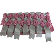 Crochet and Ribbon Hankie Holder