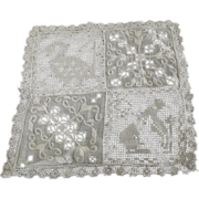 Six Early Needlework and Eyelet Doilies