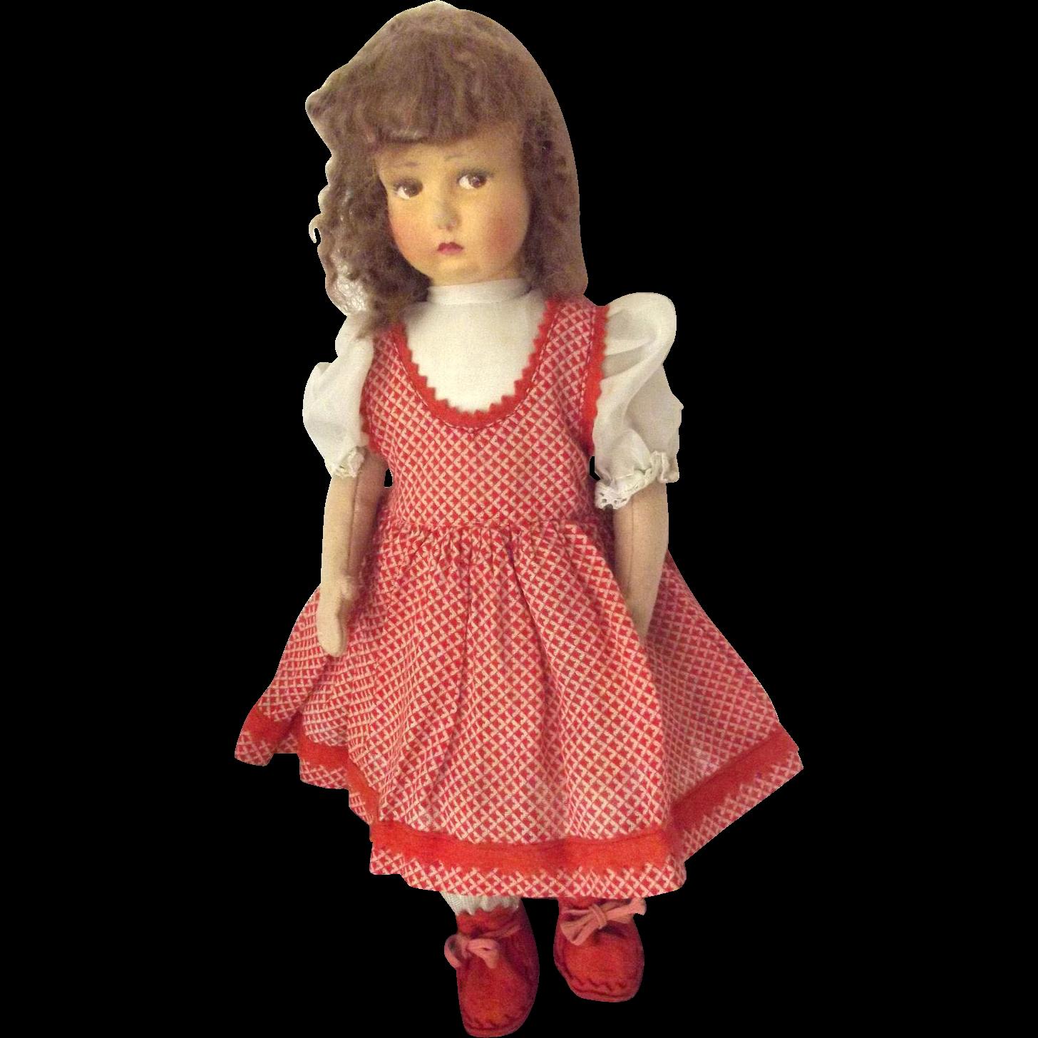 Lenci Type Felt Doll From Fhtv On Ruby Lane