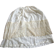 Victorian Silk Slip With Lace