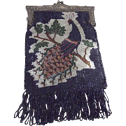 Beaded Bag With Peacock