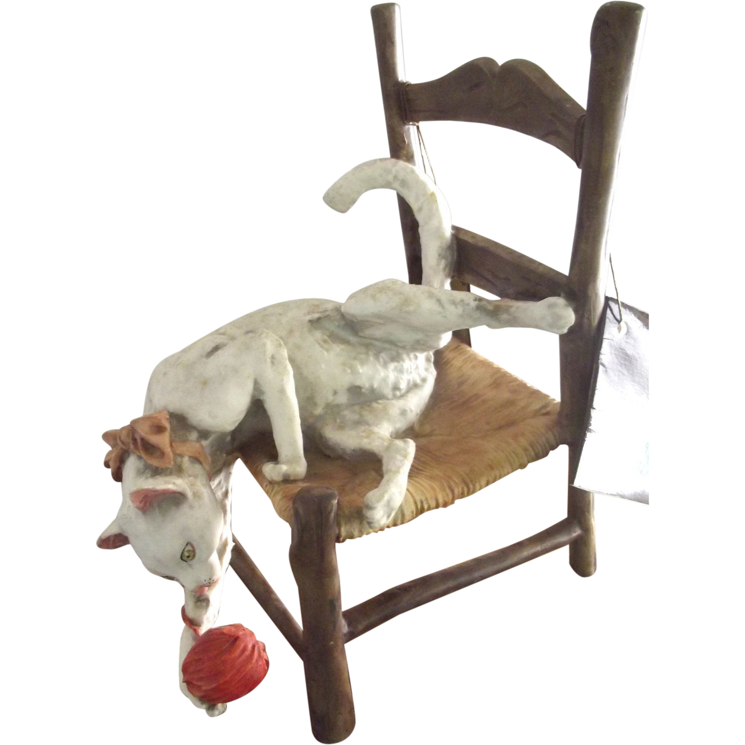 Capodimonte Cat On A Chair From Fhtv On Ruby Lane